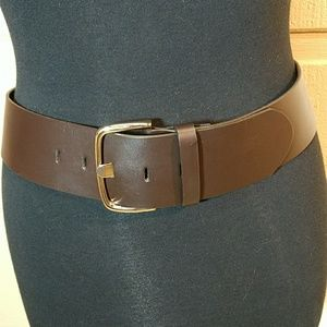 Banana Republic brown leather belt made in USA
